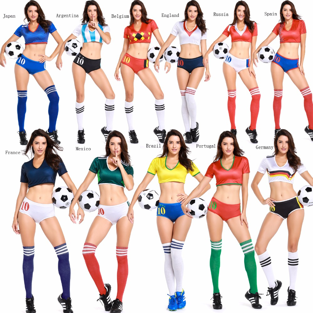 2018 World Football Game L Women Costume Soccer Baby -1604