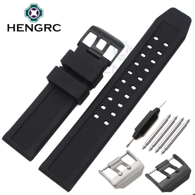 23mm Silicone Watch Band Strap Men Sport Waterproof Black Watchbands For Luminox