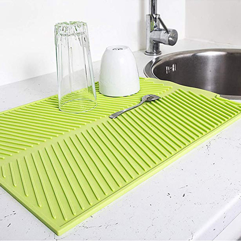Silicone Table Placemat Dinnerware-Mat Cup-Pad Kitchen-Accessories Dishwasher Drying title=