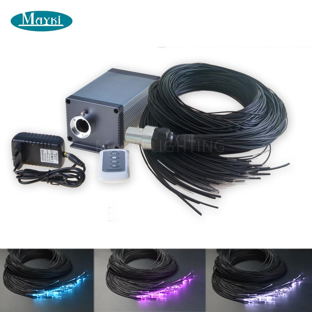 Maykit Steam Room Fiber Optic House With 105pcs 1.5mm 2m Black PVC Coating Plastic Fibre Cable 5W Cree LED Shimmer Illuminator