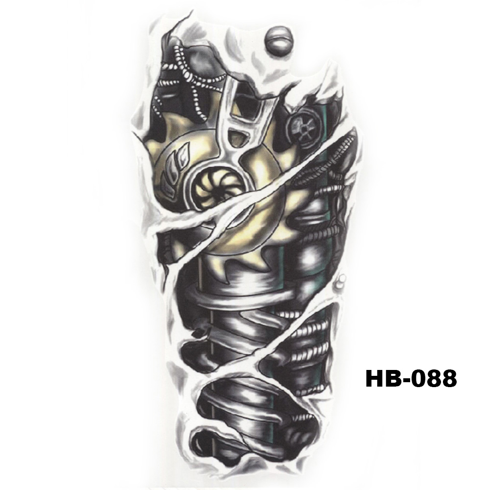 5 Pcs Hot Black Fish Totem Temporary Tattoo Stickers Waterproof Body Art Big Fake Shoulder Tattoo For Men and Women (30)