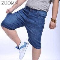 Summer Casual Cotton Men Short Jeans Knee Length Short Jean Shorts For Men Plus Size 52