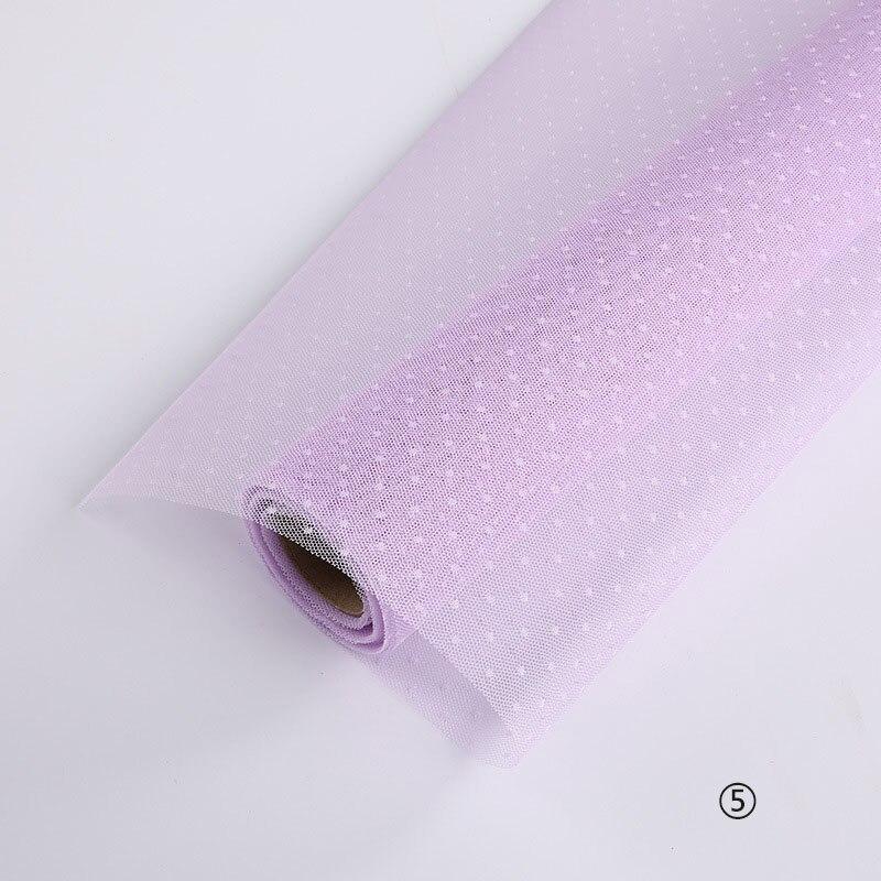 Корейский DIY оберточная сетка для цветов подарочная упаковка материал букет флорист поставки крафт украшения из бумаги для свадьбы 50 см* 5 ярдов - Цвет: 5