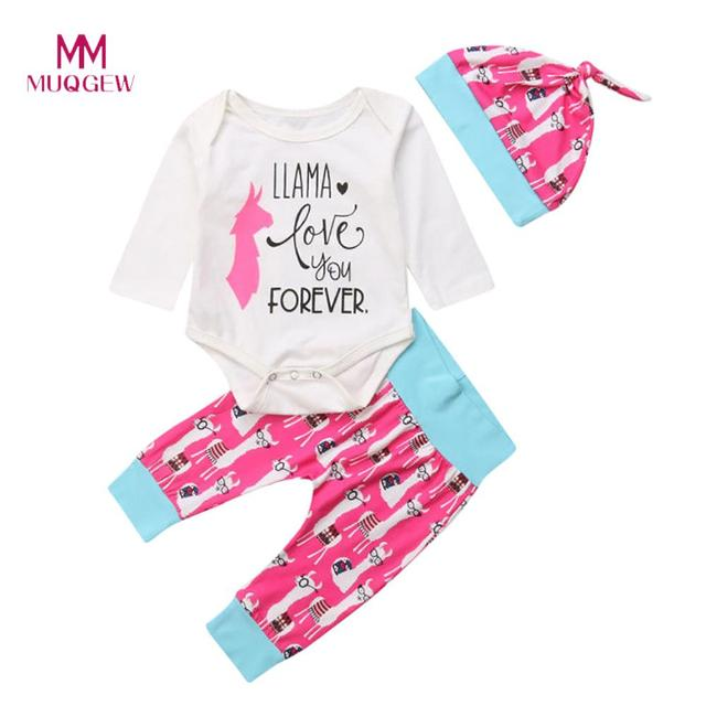 247e1bc42d4e5 US $8.9 |Baby Girl Clothes Carters Children Clothing Set Newborn Baby Girl  Letter Animal Alpaca Tops Romper Pants Outfits Clothes Set-in Clothing Sets  ...
