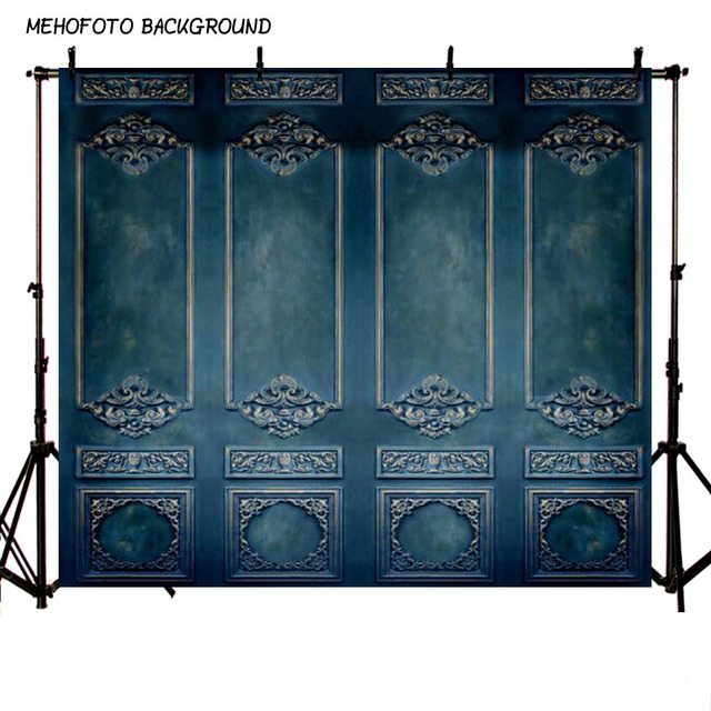 Vinyl and Polyester Photography Backdrops Blue Wall Background Digital Printed Wedding Backdrops for Photo Studio L-487-A