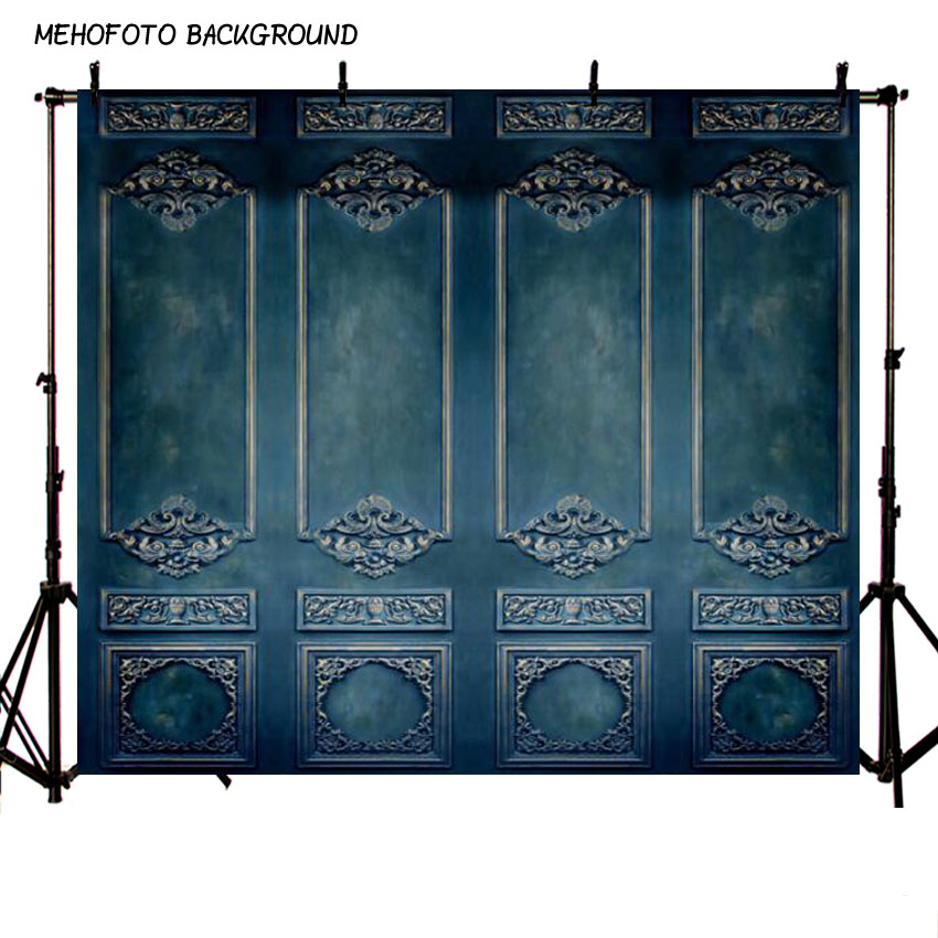 Vinyl and Polyester Photography Backdrops Blue Wall Background Photo Background Digital Print Backdrops for Photo Studio L-487-A
