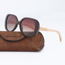 BerWer New Mens Vintage Wood Sunglasses Womens Polarized UV400 Protect Coating Mirror Sun Glasses in Cork Box