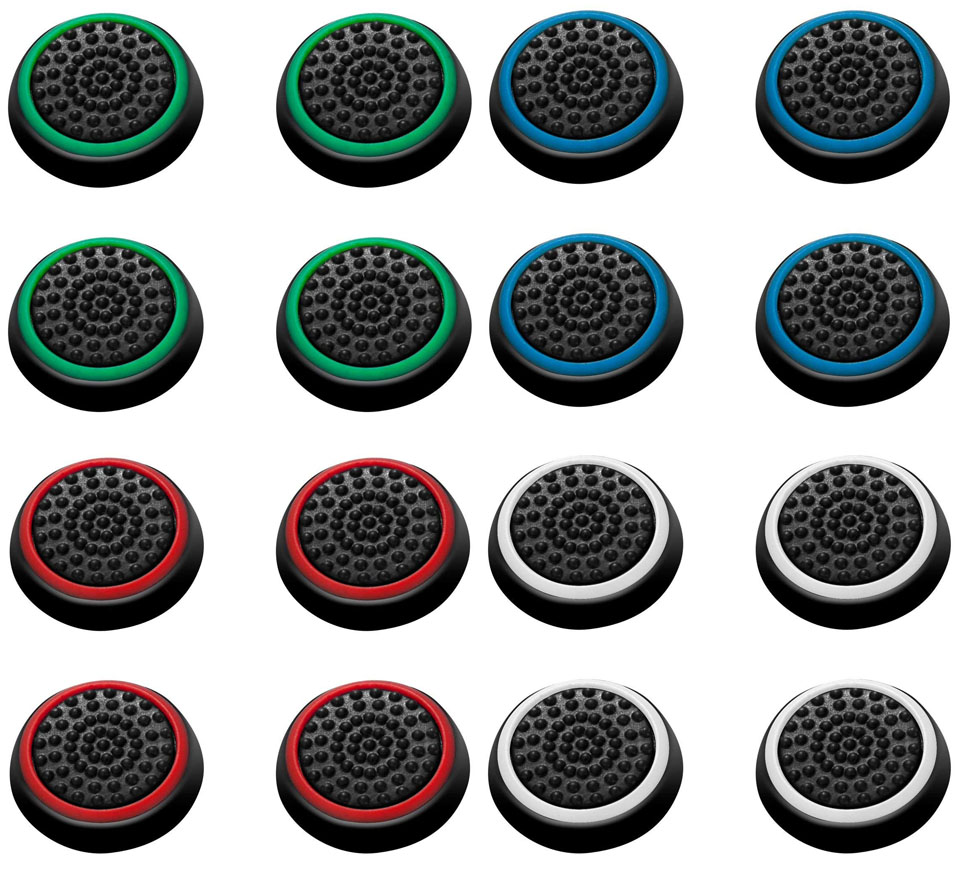 4 pcs Silicone Analog Thumb Stick Grips Cover for Playstation 4 PS4 Pro Slim for PS3 Controller Thumbstick Caps for Xbox 360 One купить в Москве 2019