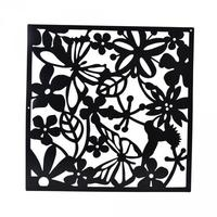 8x Flower Wall Sticker Hanging Screen Panel Room Divider Partition Black