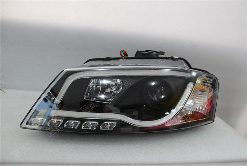 Free shipping for Vland factory for car Head lamp For Audi for A3  LED headlight 2008 2009 2010 2011 2012 year H7 Xenon lens free shipping vland factory car parts for camry led taillight 2006 2007 2008 2011 plug and play car led taill lights