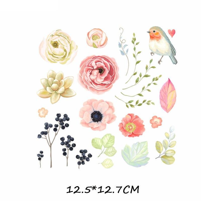 Набор патчей с изображением животных из мультфильмов, милые патчи с изображением единорога, кошки, совы, собаки, цветов для детей, одежда для девочек, футболка, сделай сам, термопресс - Цвет: 354