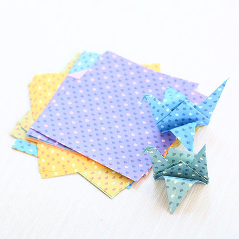 Scrapbooking & Stamping 100pcs Creative Diy Craft Paper Craft Lucky Star Heart Shaped Origami Craft Folding Paper For Scrapbooking Tool Set Arts,crafts & Sewing