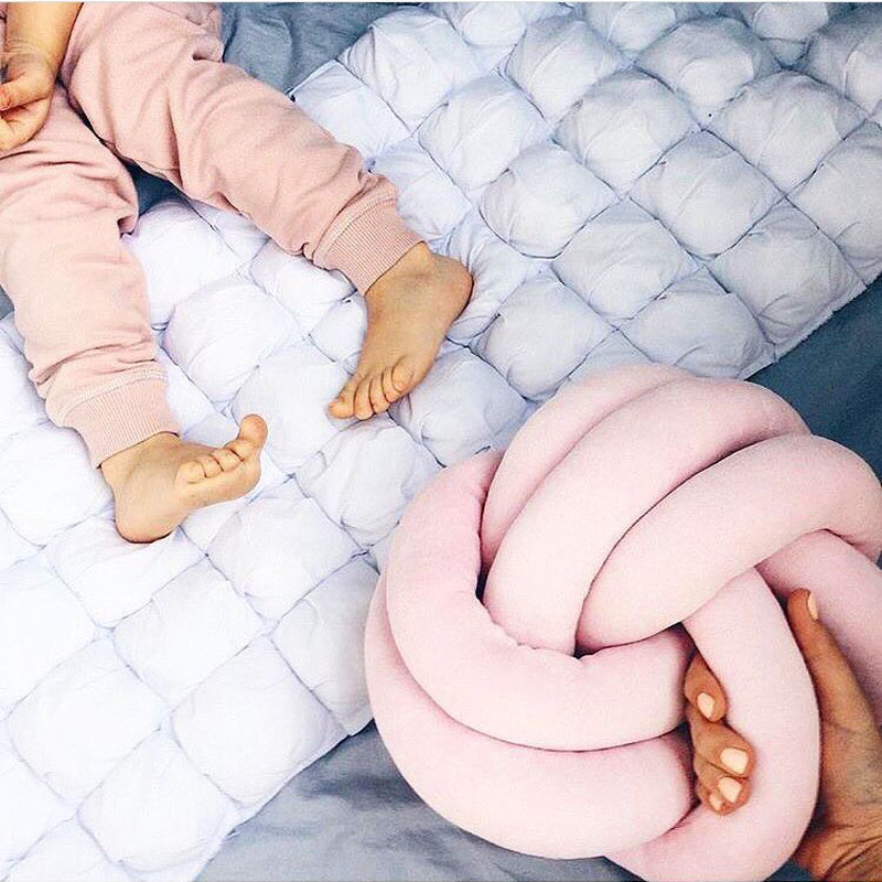 Mini Knot Ball Cushion For Baby Kids Office Waist Back Cushion Baby Nap Pillow Stuffed Dolls Toys For Children Room Decoration mymei white swan dolls mini flamingo stuffed toys appease baby plush toy cushion pillow for babies stroller kids room decor