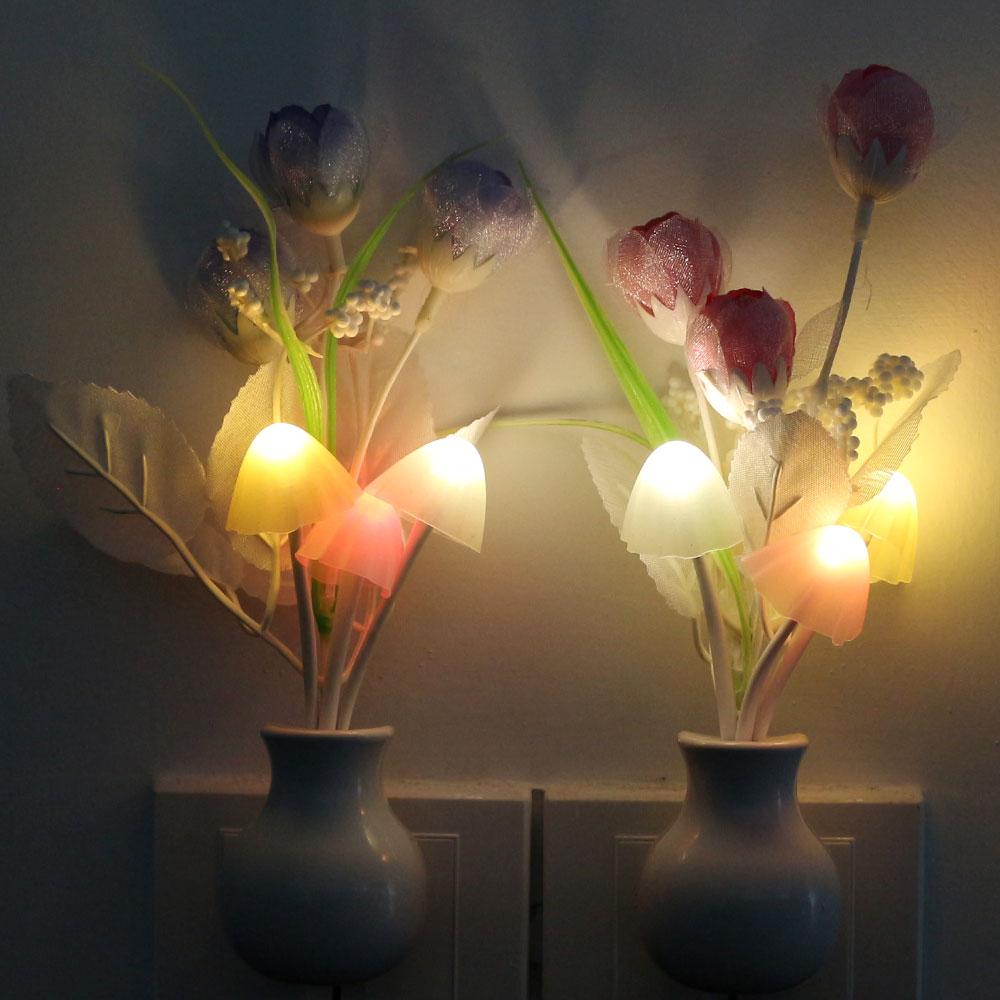 Nightlight Mushroom LED Lamp Night Lights Wholesale Lovely Room Decor 1Pcs