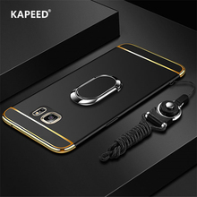 For Samsung Galaxy S9 S8 Plus S7 Edge Luxury Magnetic Ring Ultra Thin Matte Hard PC Phone Case For Samsung Galaxy Note 9 8 Funda