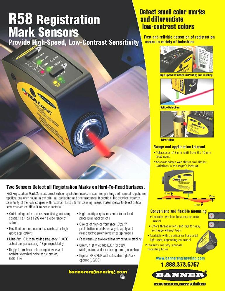 Engineering R58  Register Mark Sensor   R58ECRGB1 usability engineering