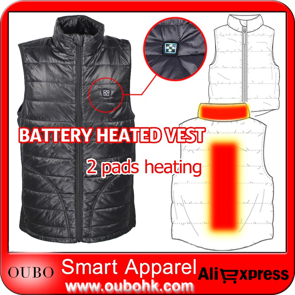fe960f1ca US $176.7 |New Battery Heated Vest Men's Quilted Waistcoat Temperature  Control Black Padded Electric Heated Clothing Winter Warm OUBOHK-in Vests &  ...
