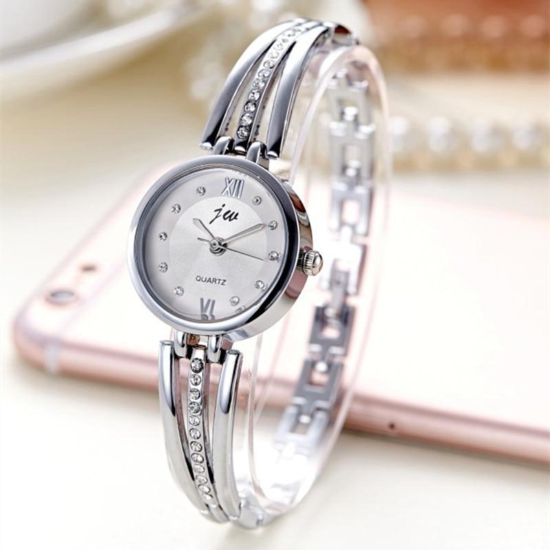 New Fashion Rhinestone Watches Women Luxury Brand Stainless Steel Bracelet watches Ladies Quartz Dress Watches reloj mujer Clock 1