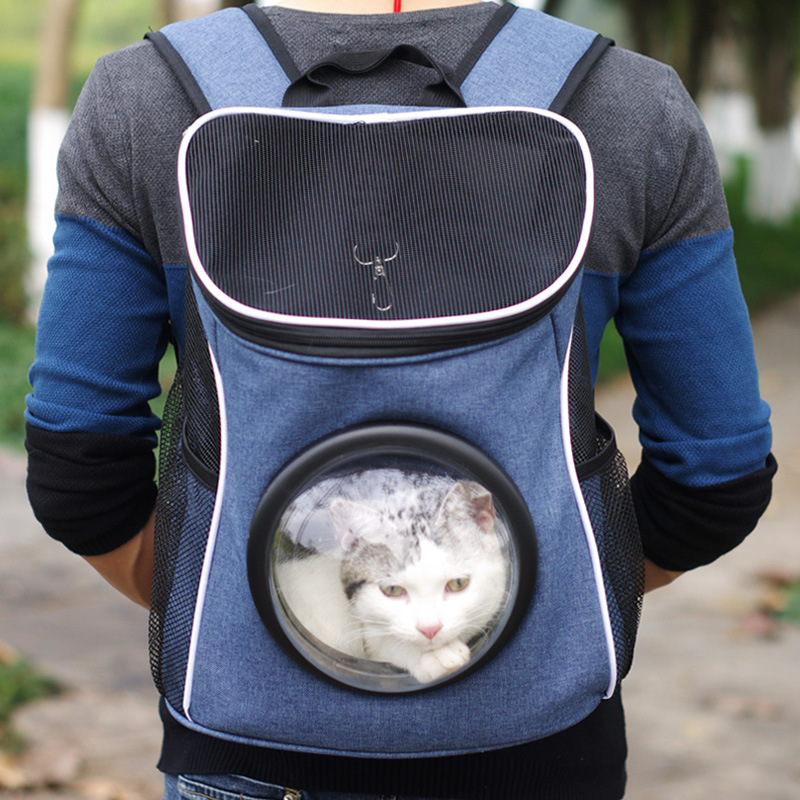 2017 New Pet Carrier Space Capsule Shaped Breathable Pet Backpack Canvas Pet Dog Outside Travel Portable Cat Bags Free Shipping #3