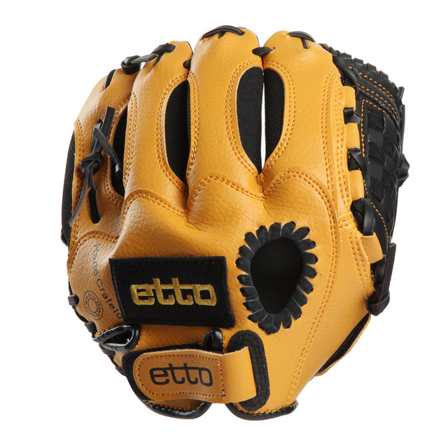 Etto Brand 10 Inches Children Baseball Gloves Left/Right Hand High Quality Professional Baseball Training Gloves For Kids 4