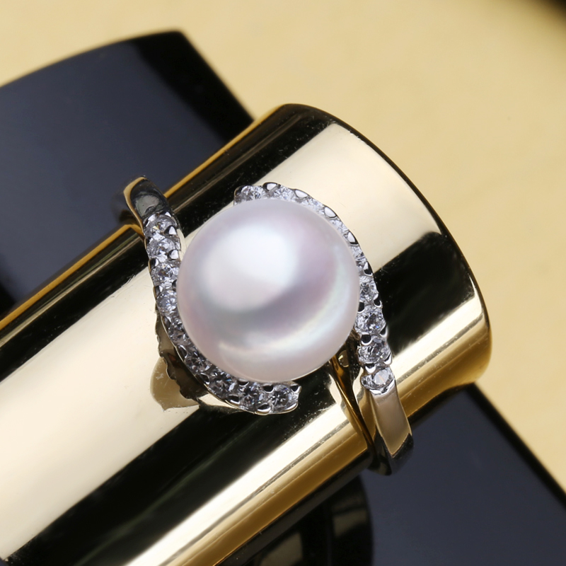 FENASY Natural Freshwater Pearl Rings For Women Pearl Jewelry Bohemian Geometric 925 Sterling Silver Ring 2019 New