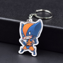 X men Keychain 8 Styles Fashion Jewelry Key Chains Super hero Custom made Movie Key Ring FQ1