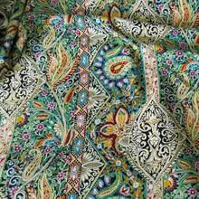 Хлопковая ткань с этническим принтом пейсли, пэтчворк, шитье, искусственный шелк, поплин, ткань для богемного платья