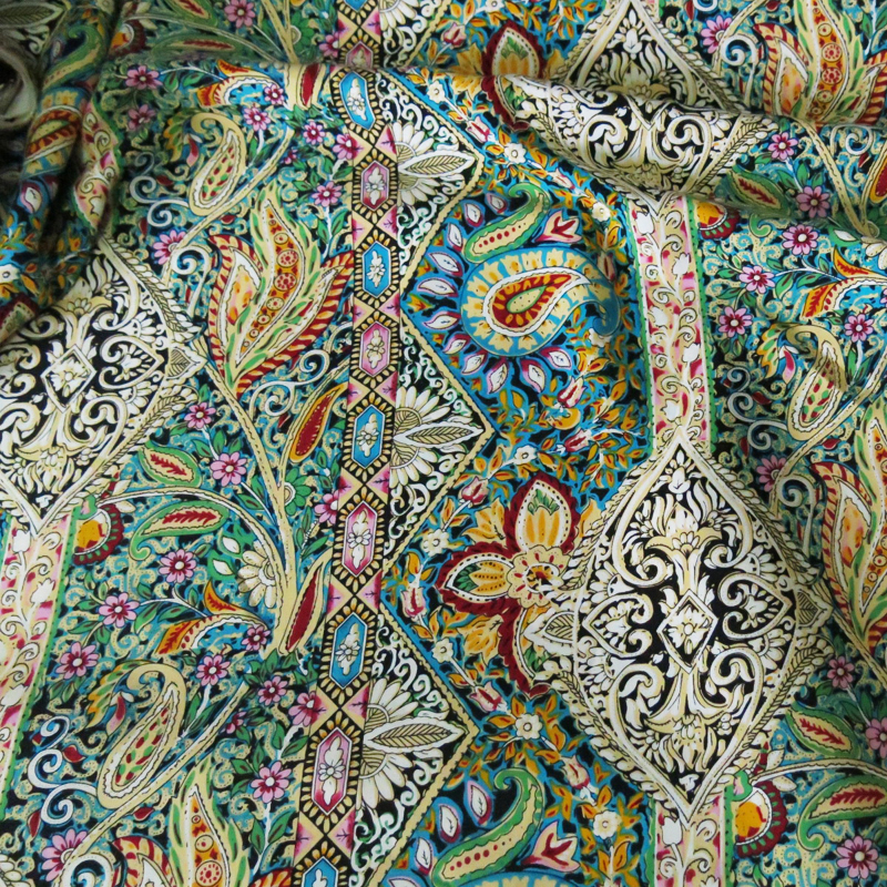 Paisley Ethnic Print Cotton Fabric Patchwork Sewing Rayon Poplin Fabric For Bohemian Dress 건달 조폭 옷
