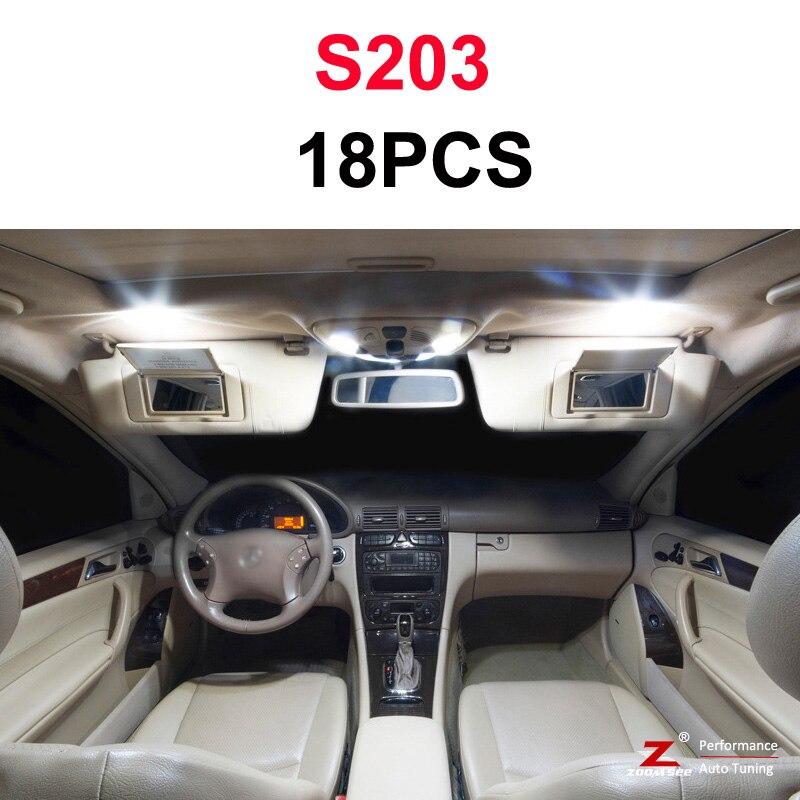 Идеальный белый светодиодный светильник Canbus для Mercedes Benz C class W202 W203 W204 S202 S203 S204 C203 C203 C204 C204(93-14 - Испускаемый цвет: S203 Estate - 18PCS