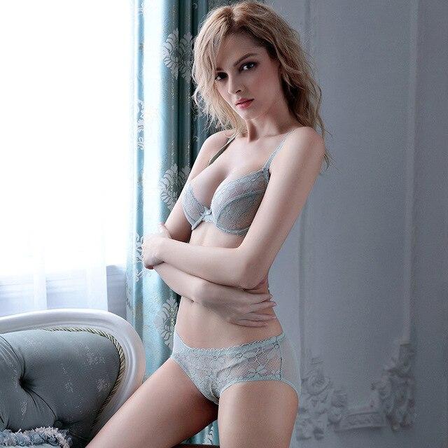leechee z041 plunge three quarters women sexy bra set underwire