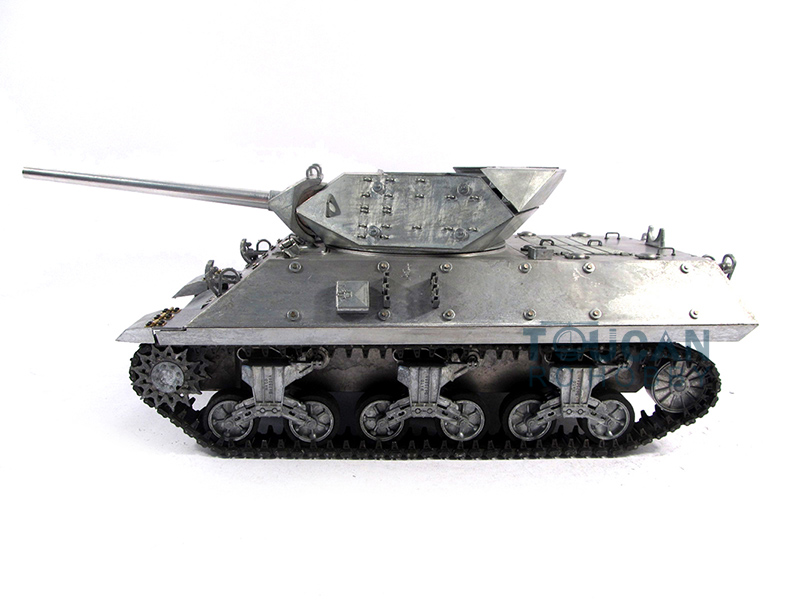 Mato 1/16 RC Tank 100% Metal M10 KIT Infrared Barrel Recoil Metal Color 1210 mato sherman tracks 1 16 1 16 t74 metal tracks