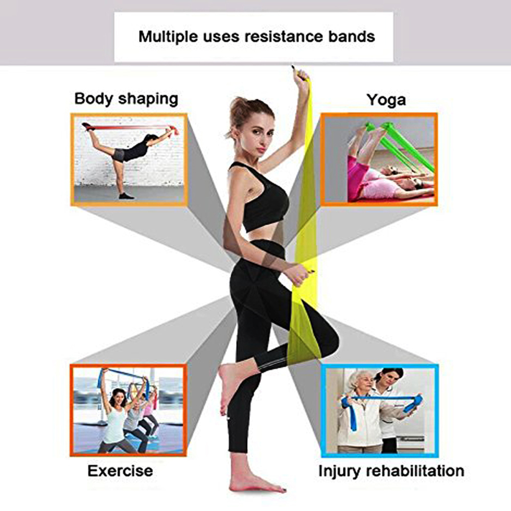 1 8m Rubber resistance bands Latex loop elastic band for Yoga fitness equipment Pilates Training Stretched Crossfit fitness gum in Resistance Bands from Sports Entertainment