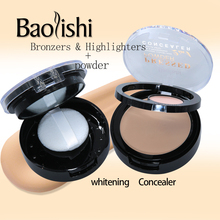 baolishi powder+concealer Loose Powder Set waterproof natural  Whitening face brand Foundation Makeup