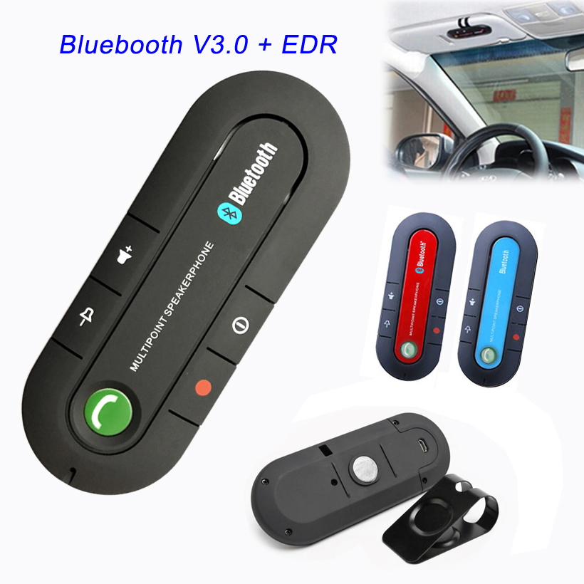 Super Speakerphone Wireless Handsfree HD Speaker Bluetooth Car Kit Receiver MP3 Music Player For Mobile Phone Dual Phone Connect