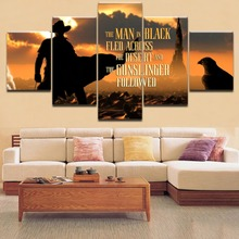 Home Decor 5 Pieces Frame Top-Rated Printing Painting Stephen king Black Escape In the Desert Type Poster For Modern Living Room sabrina philips the desert king s bejewelled bride
