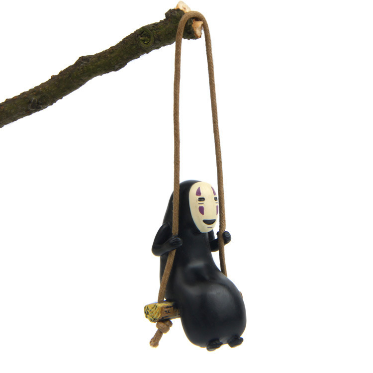 New Cute No Face Man Spirited Away Swing Trapeze Mini Cute No Face man Model Action Figures Birthday Christmas Gifts Kids Toys a spirited resistance