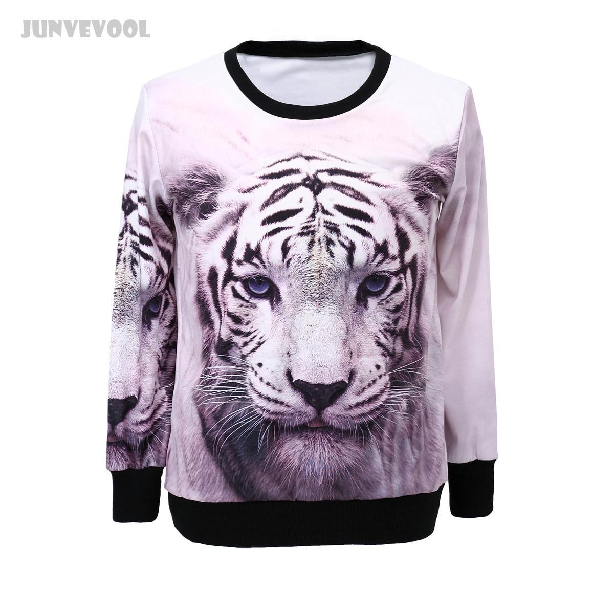 84748415faff Trainingspak Vrouwen Funky Women Sweatshirts Long Sleeve Hoodie 3D Tiger  Sweatshirt Animal Casual Round Neck Coat Pullover Tops
