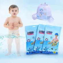 Летний одноразовый купальный костюм для маленьких мальчиков и девочек водонепроницаемый подгузник удобный дышащий плавательный костюм