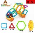 LittLove 23 Unids Mini Tamaño Diseñador de Coches Conjunto Modelo de Construcción y de Construcción de Juguete Plástico Educativo Bloques Magnéticos Juguetes Para Los Niños