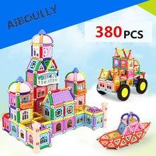 380 pcs ímã kit de construção de brinquedos série DIY manual de inteligência toy educação set combinação de blocos de construção magnético