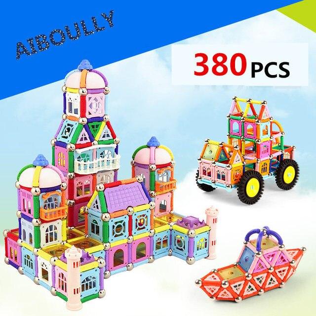Magnetic building block castle building set DIY series intellectual toy building blocks designer combination children's toys