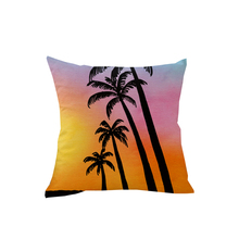 купить 45*45cm Coconut Tree Decorative Cushion Cover Scenic Printed Pillowcase Cushion Cover Sofa Chair Seat Car Pillow Cover по цене 227.31 рублей