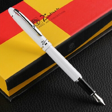 white Picasso 608 Fountain Pen business gift pen free shipping school and office Writing Supplies send teacher student friend real picasso 926 fountain pen business gift pens free shipping school and office writing supplies send teacher father friend 002