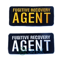 Fugitive Recovery AGENT Tactical Patch Morale 3D Badge Fabric Armband Badges Stickers Morale Patches Military