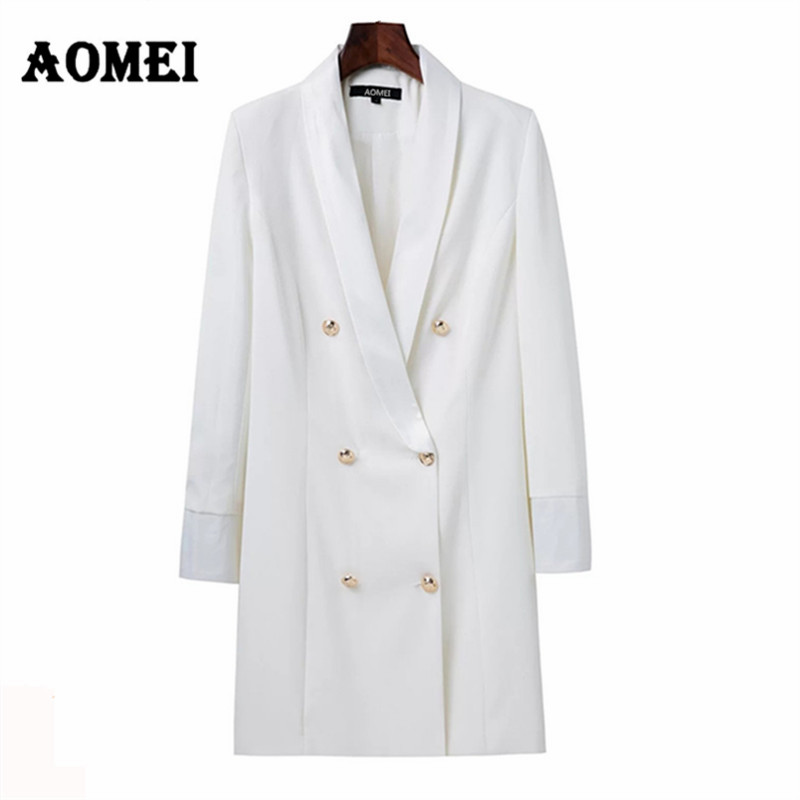 Women Blazer Casual Fashion Suit Black White Wear to Work Office Ladies Clothing Fall New with Button Design Blasers2017 Sping