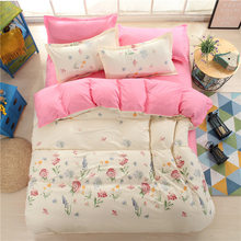 Floral Pattern AB Side Duvet Cover Bedding Set Single Twin Queen King Size Quilt Comforter Pillow Case Cotton Bed Linens24(China)