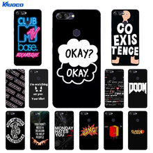 For ASUS Zenfone Max Plus M1 Cases TPU Black Letters Printing For Zenfone  Max Plus M1 ZB570TL X018D X018DC Silicone Back Cover 7407b248a6c7