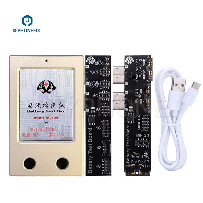PHONEFIX Batterij Tester Batterij Informatie Test Tool Voor iPhone X 8 8 p 7 plus 6 6 s 5 5 s 4 4 s iPad Mini Air Een Sleutel Clear Cyclus - 4