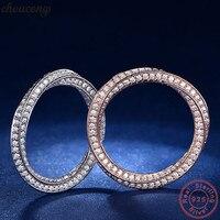 Choucong 100% Soild 925 серебрянная проволока для рисования обещающее кольцо AAAAA cz обручальные Обручальные кольца для женщин ювелирные изделия подар