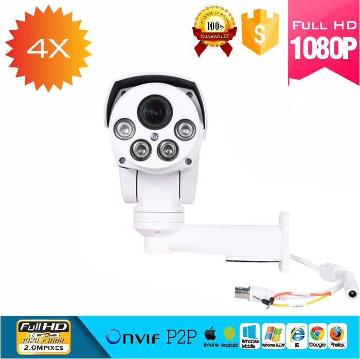 1080P AHD output,1080P TVI output,1080P CVI output,CVBS output 4X motorized zoom ptz bullet camera with Coaxial cable control 2mp 1080p ahd camera high definition ahd cvi tvi cvbs camera cctv security outdoor bullet osd meun motorized lens 4x zoom